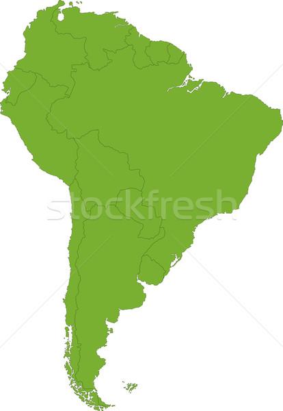 Zöld dél-amerika térkép vidék keretek számítógép Stock fotó © Volina