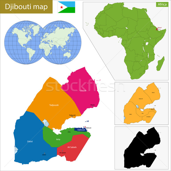 Djibouti map Stock photo © Volina