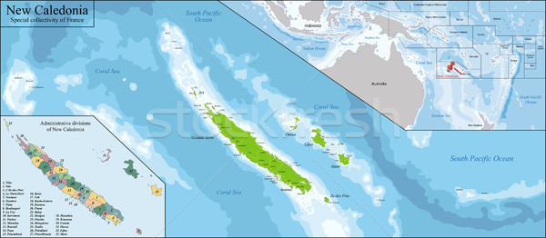New Caledonia map Stock photo © Volina