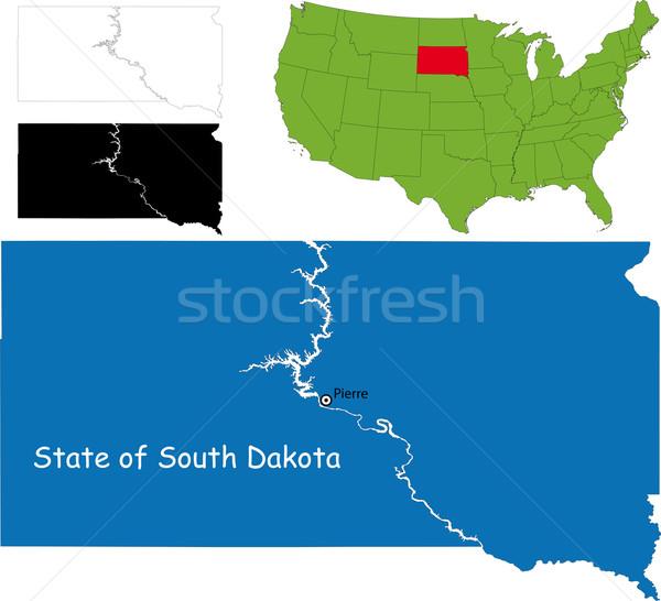 Güney Dakota harita örnek ABD renk Amerika Stok fotoğraf © Volina