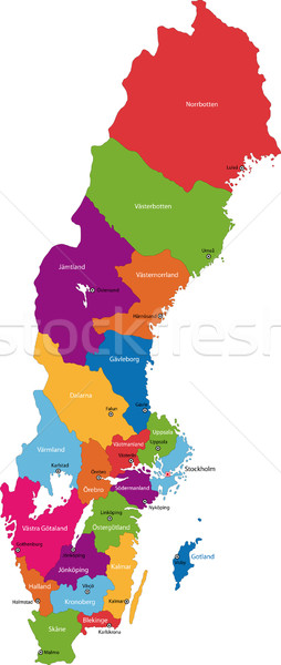 Sweden map Stock photo © Volina
