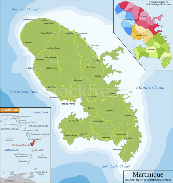 Map of Martinique Stock photo © Volina