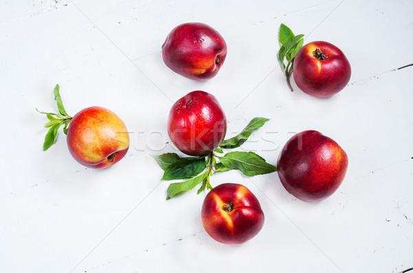Branco mesa de madeira madeira abstrato fruto Foto stock © voloshin311
