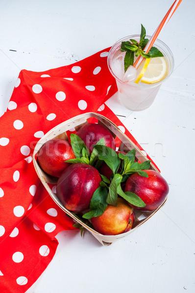 Hideg friss limonádé fa étel nyár Stock fotó © voloshin311