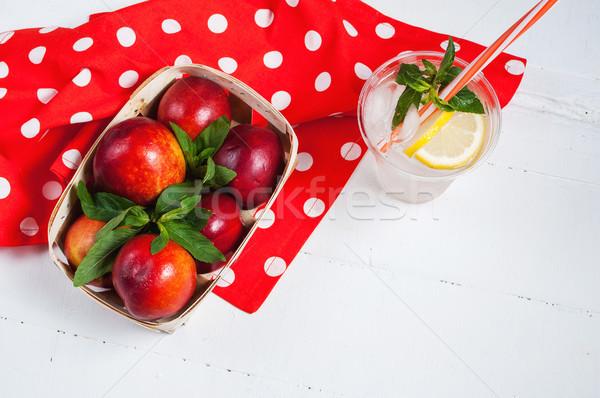 Froid fraîches limonade bois alimentaire été Photo stock © voloshin311