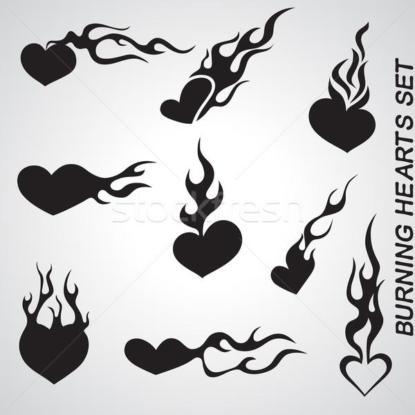 Stock photo: Flame Hearts