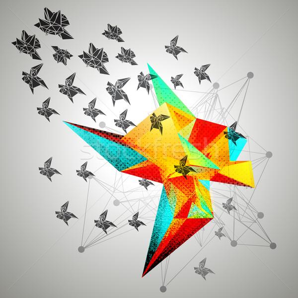 Triangular Abstract Background Stock photo © VolsKinvols
