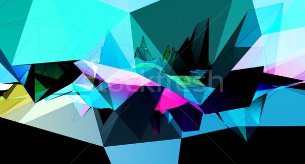 Triangles vector background Stock photo © VolsKinvols