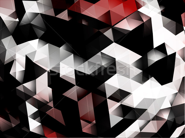 Abstract 3D triangles vector background Stock photo © VolsKinvols