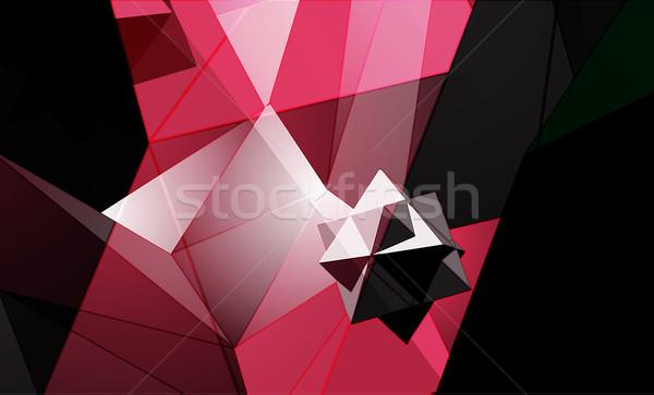 Polygonal Abstract Background Stock photo © VolsKinvols