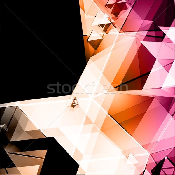 вектора пейзаж дизайна фон оранжевый веб Сток-фото © VolsKinvols