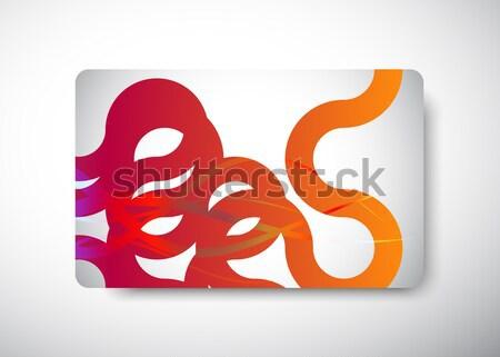 Tarjeta de regalo tamaño negocios feliz arco iris rojo Foto stock © VolsKinvols