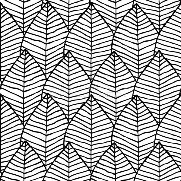 Primitive structure seamless pattern in black and white Stock photo © VOOK