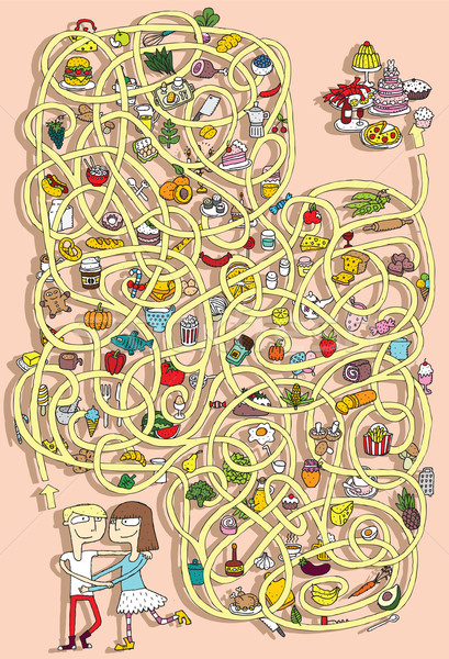 продовольствие лабиринт игры решения скрытый слой Сток-фото © VOOK