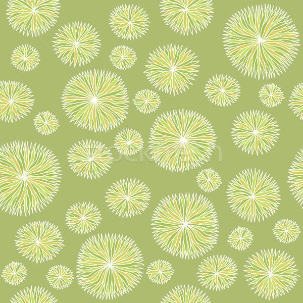 Vintage modello di fiore senza soluzione di continuità texture verde illustrazione Foto d'archivio © VOOK