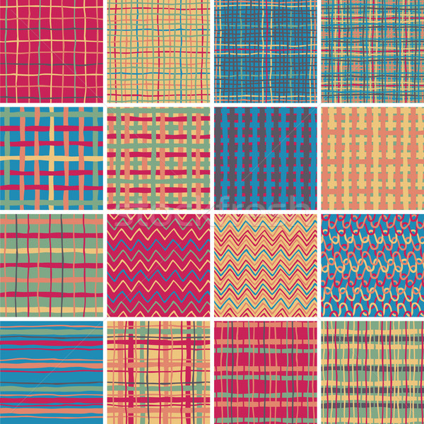 Textile seamless pattern SET No.6  Stock photo © VOOK