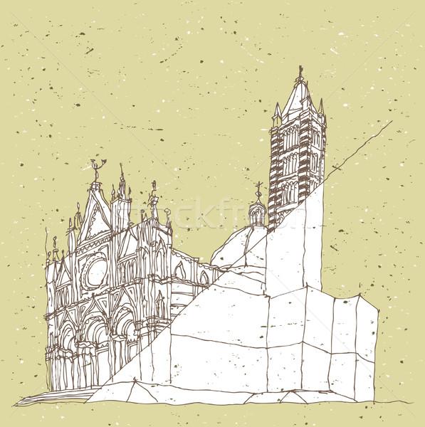 Arquitectura histórica Italia Toscana ilustración eps8 vector Foto stock © VOOK