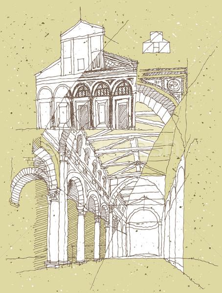Arquitetura histórica Itália ilustração eps8 vetor cidade Foto stock © VOOK