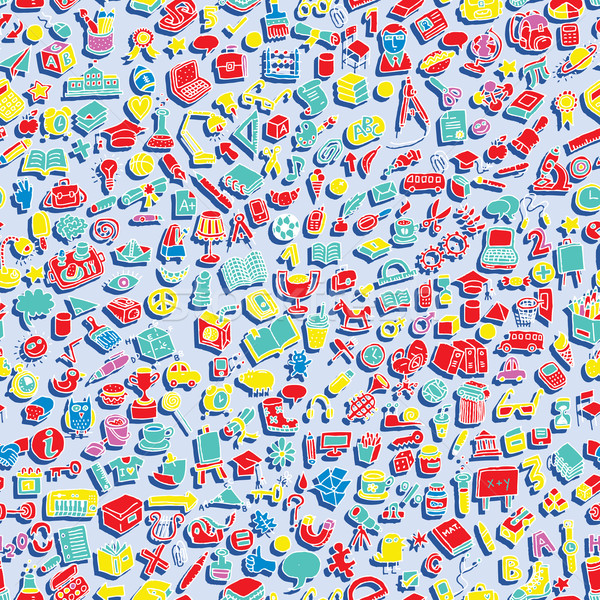 School seamless pattern  Stock photo © VOOK