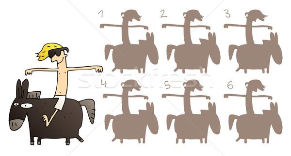 At ayna görüntü oyun görev bulmak Stok fotoğraf © VOOK