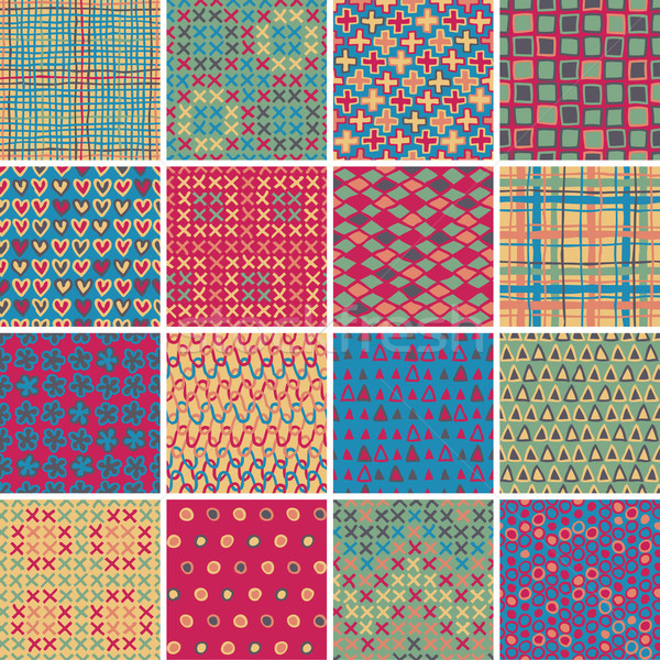 Textile seamless pattern SET No.10 Stock photo © VOOK