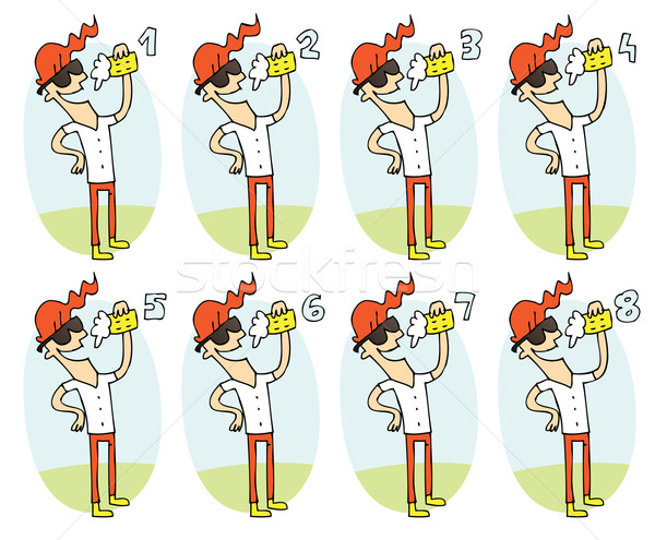 Meczu gry piwa zadanie odnaleźć dwa Zdjęcia stock © VOOK