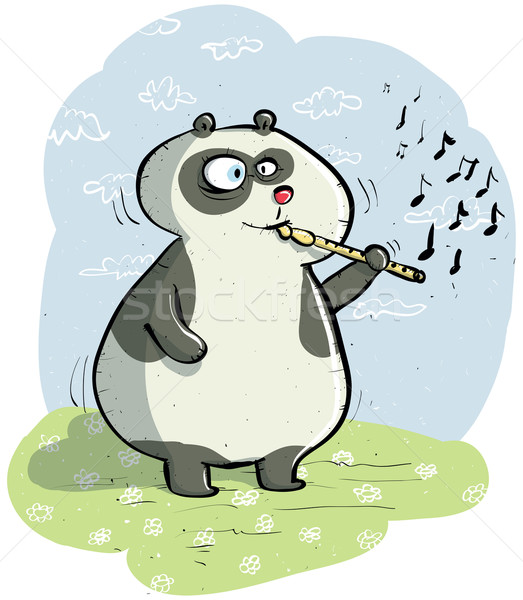 Panda with Flute Stock photo © VOOK