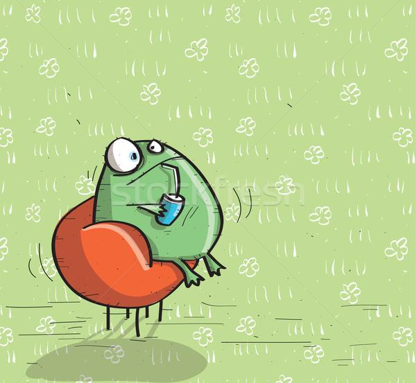 животные зеленый иллюстрация eps10 вектора Сток-фото © VOOK