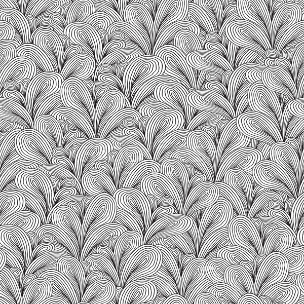Plants seamless pattern in black and white Stock photo © VOOK