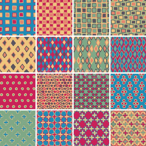 текстильной набор 16 различный Сток-фото © VOOK