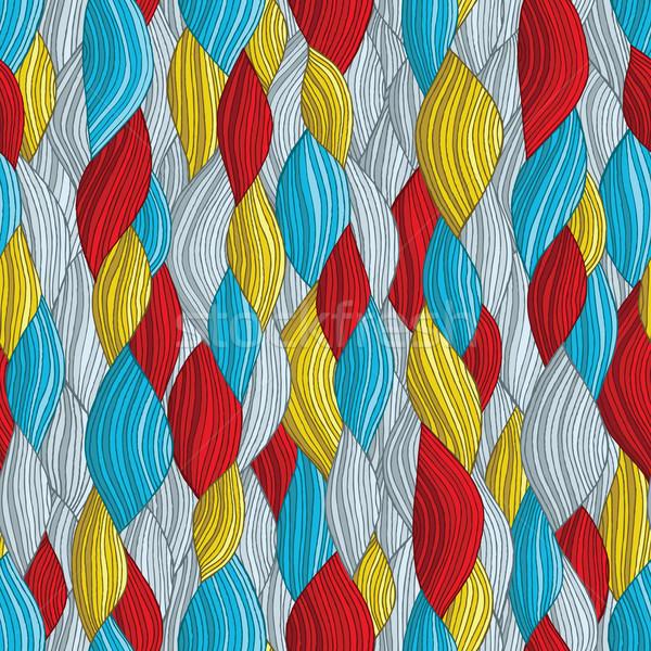 ファンキー 波 色 手描き 実例 ストックフォト © VOOK