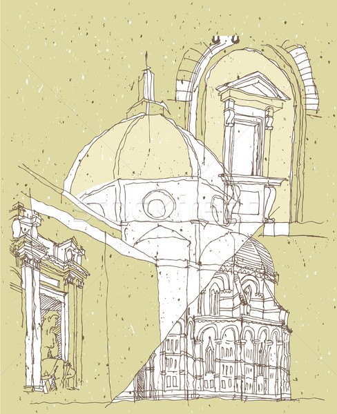 Arquitetura histórica Itália basílica flor florence Foto stock © VOOK