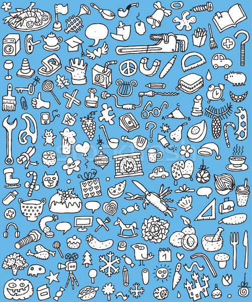 Big Doodle Icons Set Stock photo © VOOK