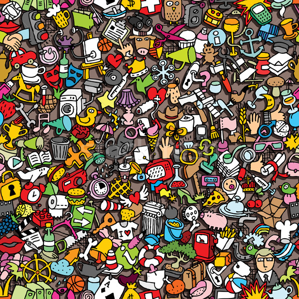 Icons seamless pattern Stock photo © VOOK