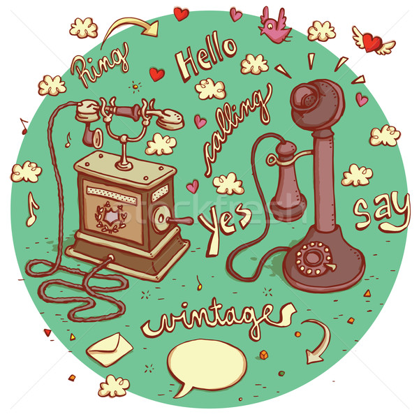 Foto stock: Telecomunicações · objetos · conjunto · diferente · sinais
