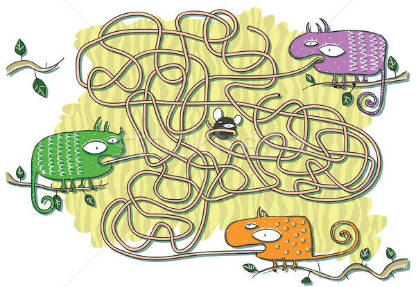 Labirinto jogo crianças ilustração eps10 Foto stock © VOOK