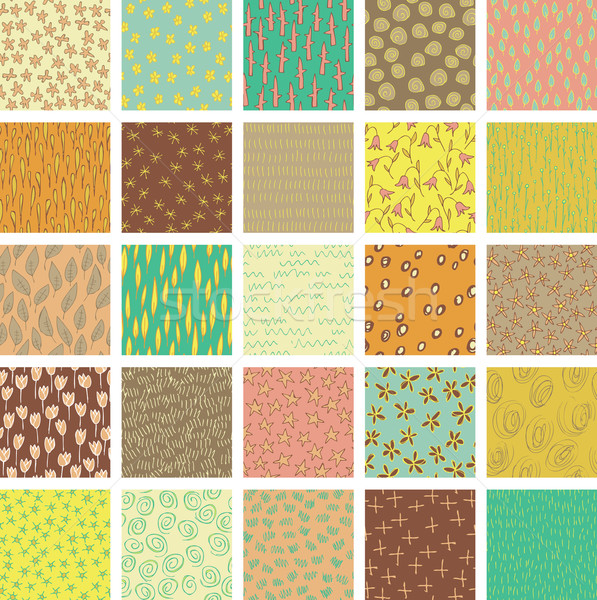 Set of 25 Different Seamless Patterns  Stock photo © VOOK