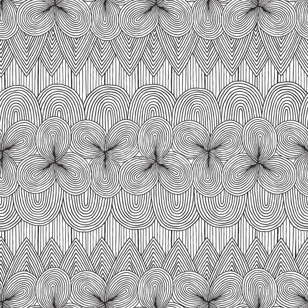 Collage seamless pattern in black and white Stock photo © VOOK