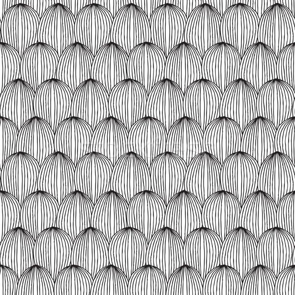 Melone bianco nero inchiostro illustrazione Foto d'archivio © VOOK
