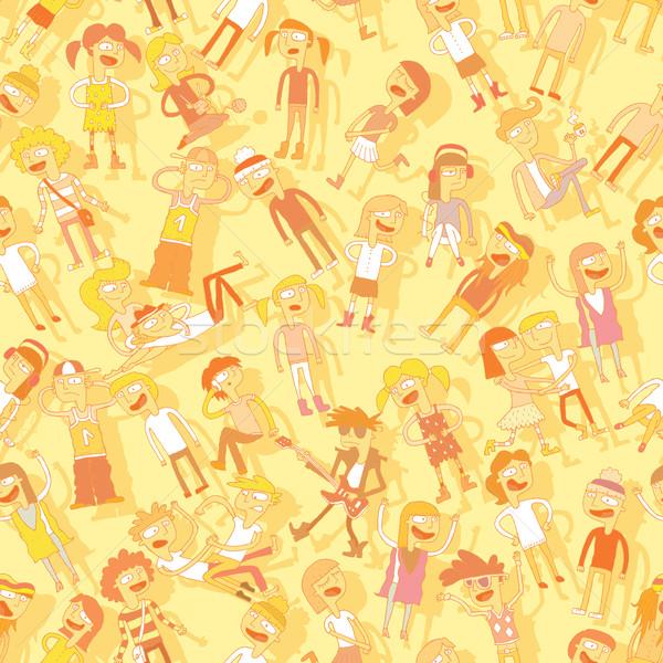 şarkı söyleme çocuklar gençler örnek eps8 Stok fotoğraf © VOOK