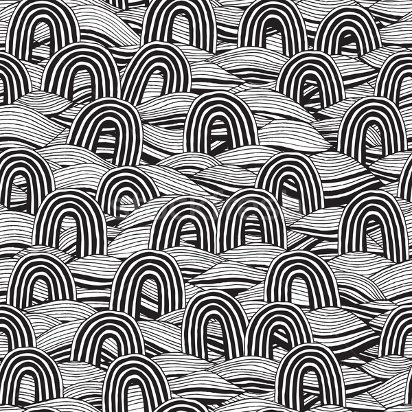Pin seamless pattern in black and white Stock photo © VOOK