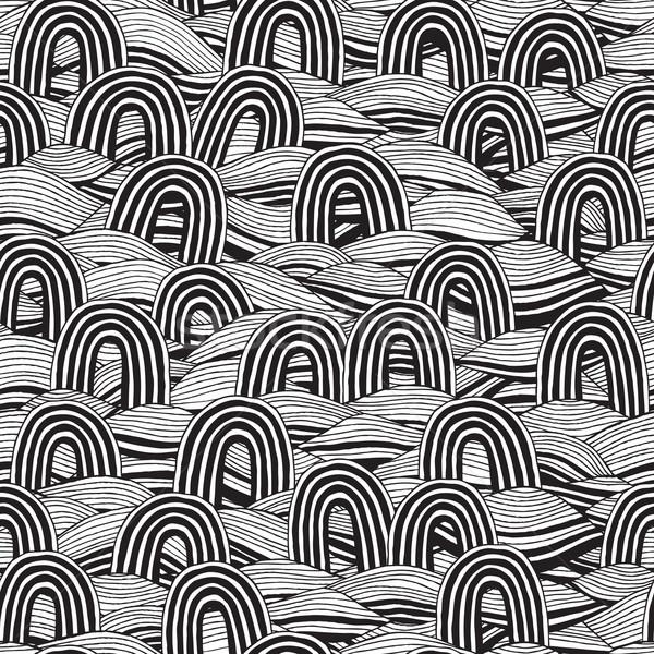 Pin czarno białe atramentu ilustracja Zdjęcia stock © VOOK