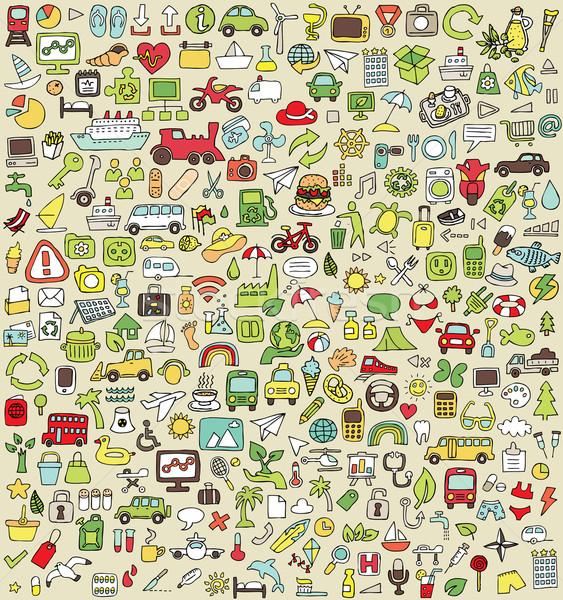 Stockfoto: Xxl · doodle · gelegenheid · kleuren · klein