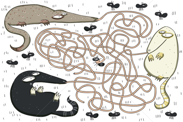 Anteaters and Ants Maze Game Stock photo © VOOK