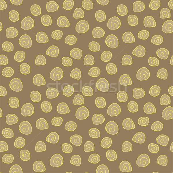 Spiral tekrarlayan kahverengi örnek eps8 Stok fotoğraf © VOOK