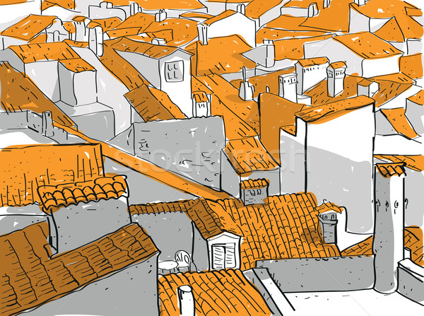 Old City Rooftops  Stock photo © VOOK