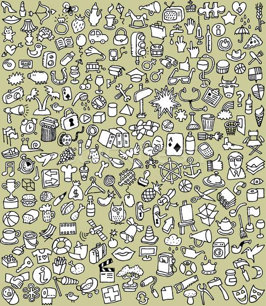 Xxl gryzmolić czarno białe kolekcja liczny Zdjęcia stock © VOOK