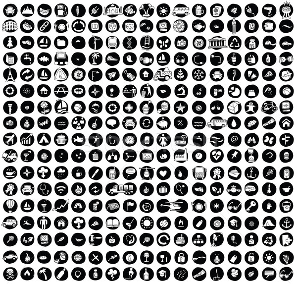 XXL Collection of 289 doodled icons for every occasion No.1  Stock photo © VOOK