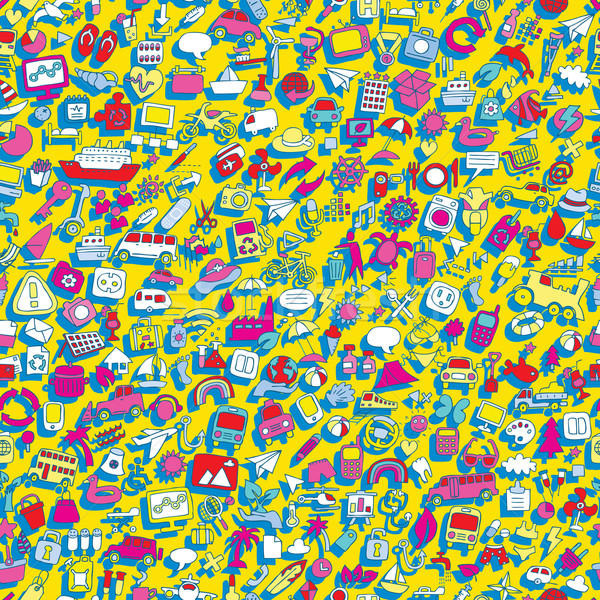 Símbolos mini rabisco desenhos ícones Foto stock © VOOK