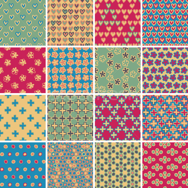 Textile seamless pattern SET No.9 Stock photo © VOOK